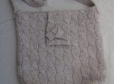 Beige wool sling bag