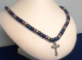 Desert Mine Crucifix Necklace