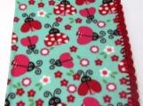 fleece lady bug blanket
