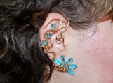 Golden reflections ear cuff, water ear cuff, no piercing earring