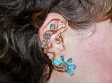 Golden reflections ear cuff, water ear cuff, no piercing earring