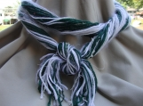 Infinity Necknot in green and white