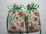 """Christmas 4""""X2"""" White Sachet-'Vanilla Noel' Fragrance-159"""