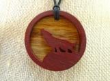 Spirit Animal Pendant, Howling wolf Pendant