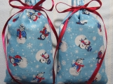"Winter Blue 4""X2"" Sachet-'Winter Garden' Scent-Cindy's Loft-151"