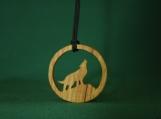 Wolf Necklace, Wolf Jewelry, Spirit Animal Pendant, Werewolf pendant, Handcrafted exotic wood pendant