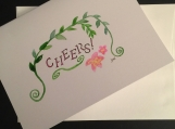 Cheers Garland Hand-painted Watercolor Greeting Card