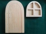 Fairy Door and window kit, Opening Fairy Door, Paint your own fairy door, DIY fairy door, Project for kids