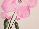 Floral Watercolor Hand-painted Greeting Card