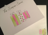 For Someone Special Gift-Wrapped Handpainted Greeting Card