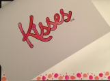 Kisses Hand-painted Watercolor Greeting Card