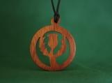 Thistle Necklace, Thistle Jewelry, Scottish Pendant, Scottish Symbol, Outlander Pendant, Handcrafted exotic wood pendant