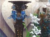Blue Bird Earring Set