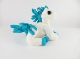 Clay unicorn  sculpture figurine