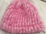 Girl's Pink Fuzzy Hat