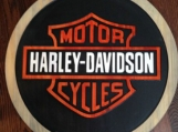 Harley Davidson Wood Carved Signs
