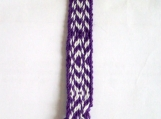 Purple and white zigzag keychain