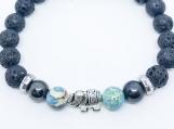 Aromatherapy Diffuser Bracelet Turquoise Tibetan Silver Elephant
