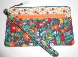 double zipper wristlet pouch
