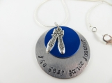 Hand stamped - the best dance teacher - necklace