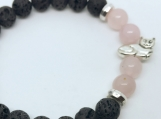 Loving Rose Quartz Kitty Bracelet