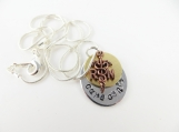 Mini hand stamped RN necklace