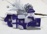 Dark Purple, Silver and White Tree Ornaments