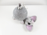 Polymer clay elephant christmas ornament