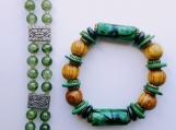 2 green bracelets + surprise earrings