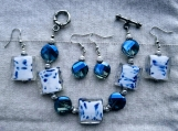 2 pairs of earrings & bracelet (E)