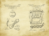 Baseball Patent Art Duo-U.S. Shipping Included