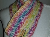 Beautiful cowl in bright springtime colors