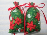"Christmas 4""X2"" Green Sachet-'New England Christmas' Scent-117"