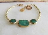 Emerald Bracelet, Mays Birthstone, Statement Bracelet