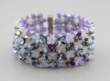 Flower garden bracelet with a charm!