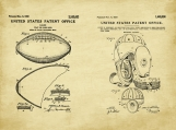 Football Patent Art Duo-U.S. Shipping Included