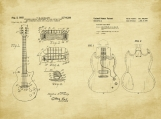 Gibson Guitar Duo Patent Art-U.S. Shipping Included