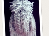 Kids Large Pom Pom Hat