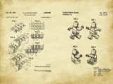 Lego Patent Art Duo-U.S. Shipping Included
