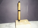 Olive Wood Cigar Pen - Chrome