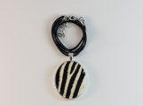 Zebra Skin Necklace