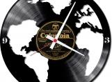 Around the world 2 handmade vintage vinyl design clock