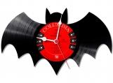 Batman 1 handmade vintage vinyl design clock