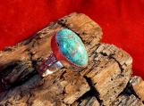 Carico Lake Turquoise and Sterling Silver Ring