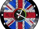 England 2 Loop-store handmade vintage vinyl clock