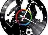 Football soccer Loop-store handmade vintage vinyl clock