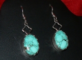 Godber/Burnham Turquoise and Sterling Silver earrings