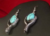 Godber/Burnham Turquoise and Sterling Silver Spur earrings