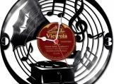 Gramophone Loop-store handmade vintage vinyl clock