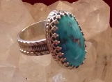 HG Candelaria Turquoise and Sterling Silver Ring